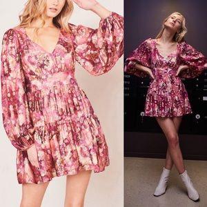 LoveShackFancy Willis Puff-Sleeve Dress Sz:2